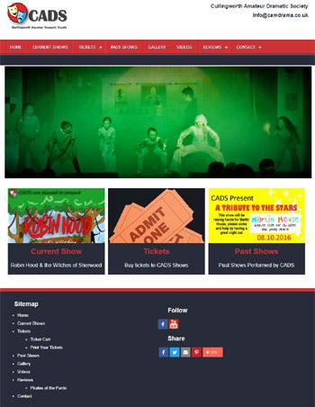 Cads Drama Group Web Design